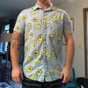 Men's size M Avocado button-down shirt